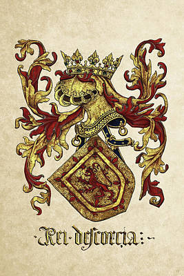 Digital Art - Arms Of King Of Scotland - Livro Do Armeiro-mor by Serge Averbukh