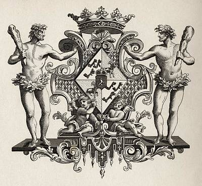 Arms Of The Duchess Of Kendal From The Art Print