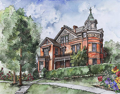 Armstrong Mansion Original by Shelley Wallace Ylst