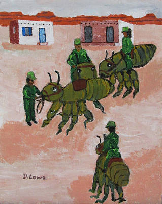 Army Ant Painting - Army Ants by Danny Lowe
