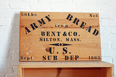 Photograph - Army Bread Box 1863 by Sally Weigand