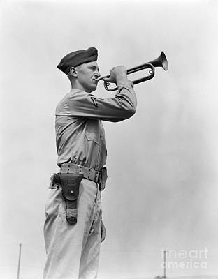 Photograph - Army Bugler by H. Armstrong Roberts/ClassicStock