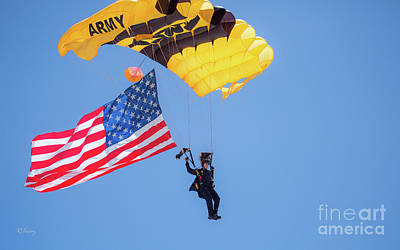Photograph - Army Golden Knights Parachute Team by Rene Triay Photography