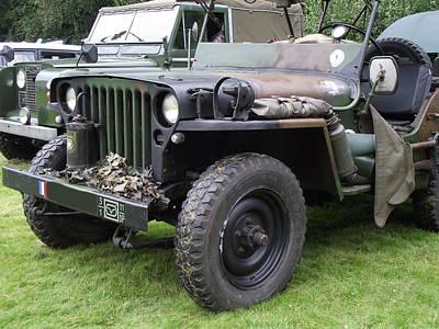 Army Jeep U.s.a. Art Print by Dawn Hay