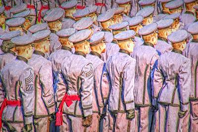 Photograph - Army Lineup by Alice Gipson