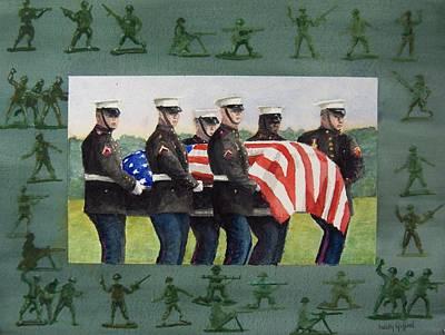 Army Men Art Print by Haldy Gifford