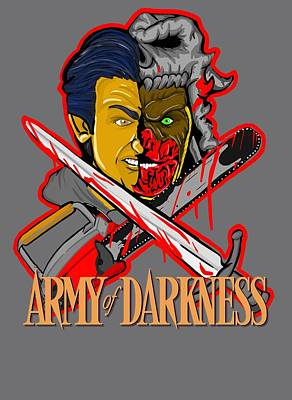 Painting - Army Of Darkness Ash by Gary Niles