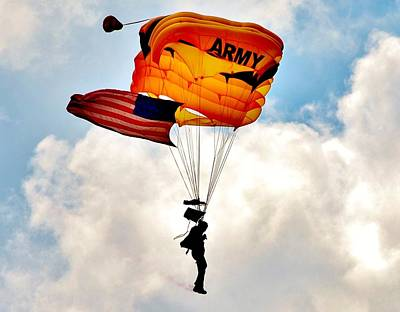 Army Paratrooper 2 Art Print