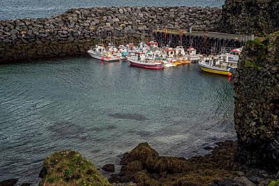 Photograph - Arnarstapi Fishing Boats by Tom Singleton