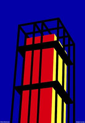 Arne Jacobseb Tower Art Print by Asbjorn Lonvig