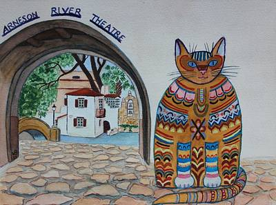 Arneson Theatre Cat Art Print