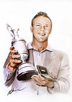 Painting - Arnie And Claret Jug by Mark Robinson