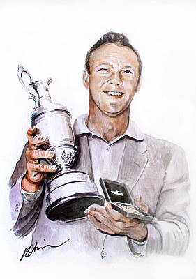 Golf Art Painting - Arnie by Mark Robinson