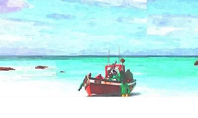 Arniston Digital Art - Arniston Fishermen by Sonja Osiecki