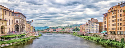 Photograph - Arno From Ponte Vecchio 1 by Steven Greenbaum