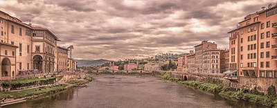 Photograph - Arno From Ponte Vecchio 2 by Steven Greenbaum
