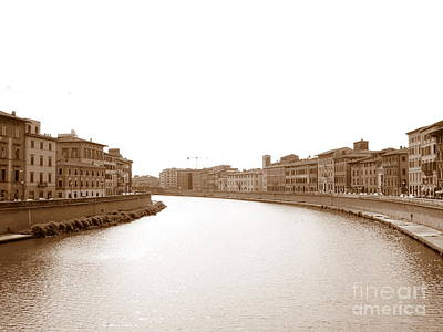 Photograph - Arno River In Pisa by Laurel Best