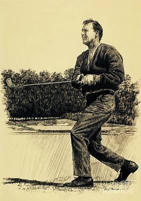 Arnold Palmer Drawing - Arnold Palmer by Gary Thomas