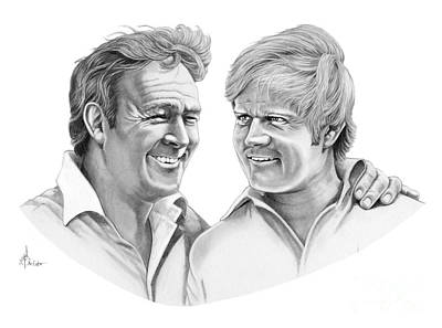 Arnold Palmer-jack Nicklaus Original by Murphy Elliott