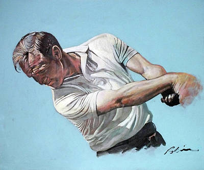 Painting - Arnold Palmer- The King by Mark Robinson