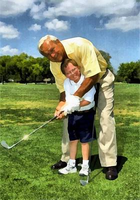 Rendition Photograph - Arnold Palmer Visit To An Orlando Hospital by Orlando Health