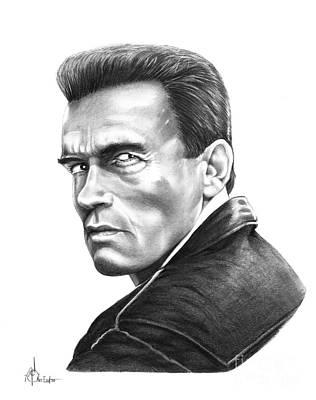Pencil Drawing Drawing - Arnold Schwarzenegger by Murphy Elliott