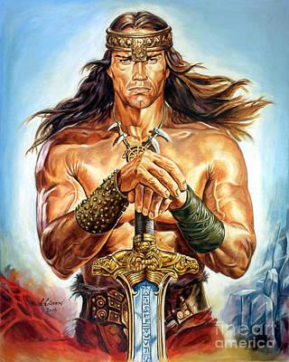 Schwarzenegger Painting - Arnold Schwarzenegger by Spiros Soutsos