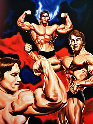 The Terminator Painting - Arnold Schwazernegger by Hector Monroy