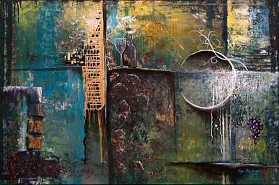 Italian Wine Painting - Aroma Di Dolcezza by Olga Smith