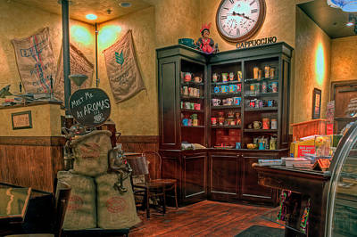 Photograph - Aromas Coffee Shop by Jerry Gammon