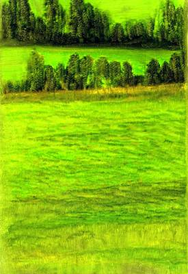Maine Meadow Painting - Aroostook County Maine by FeatherStone Studio Julie A Miller