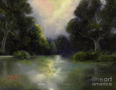 Art Print featuring the painting Around The Bend by Marlene Book
