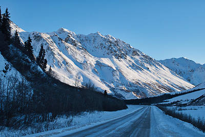 Photograph - Around The Bend - Richardson Highway In Winter by Cathy Mahnke