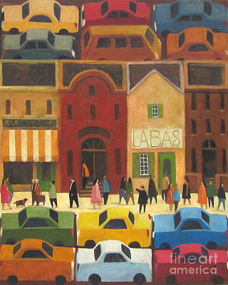 Painting - Around The Block by Glenn Quist