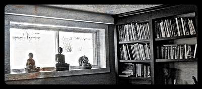 Photograph - Around The Books, There's Zen by Mario MJ Perron