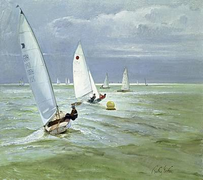Around The Buoy Art Print by Timothy Easton
