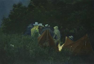 Photograph - Around The Campfire by Larry Kjorvestad