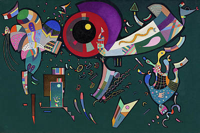 Disk Painting - Around The Circle by Wassily Kandinsky