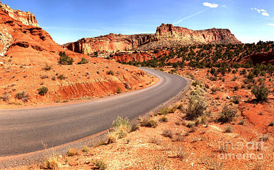 Photograph - Around The Corner At Capitol Reef by Adam Jewell