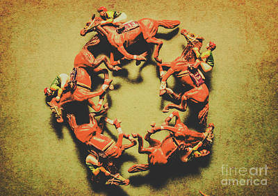Racehorse Photograph - Around The Racetrack by Jorgo Photography - Wall Art Gallery