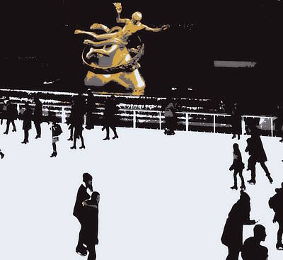 Digital Art - Around The Rink by Laurie Pike