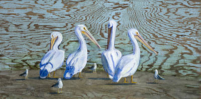 Painting - Around The Water Cooler by Billie Colson