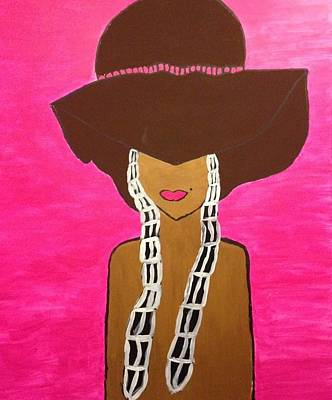 Around The Way Girl  Art Print