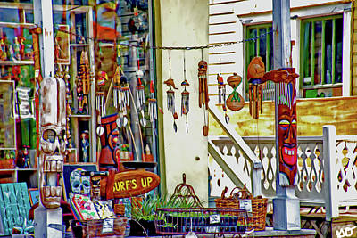 Photograph - Around The World Marketplace Porch Saint Augustine by Gina O'Brien