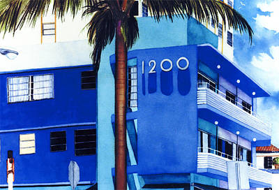 Around Twelve Noon In South Beach Art Print by Maureen Piccirillo