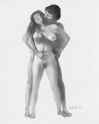 Intercourse Drawing - Arousal by Albert Notarbartolo
