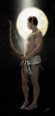 Archer Digital Art - Arquero De La Luna by Joaquin Abella