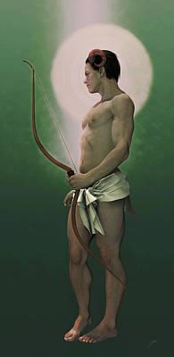Archer Digital Art - Arquero Elfo by Joaquin Abella