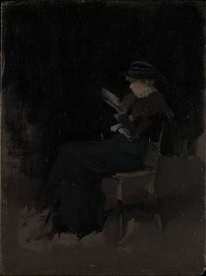 Arrangement In Black Girl Reading Original by James McNeill Whistler
