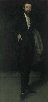 Whistler Painting - Arrangement In Black - Portrait Of F R Leyland by James Abbott McNeill Whistler